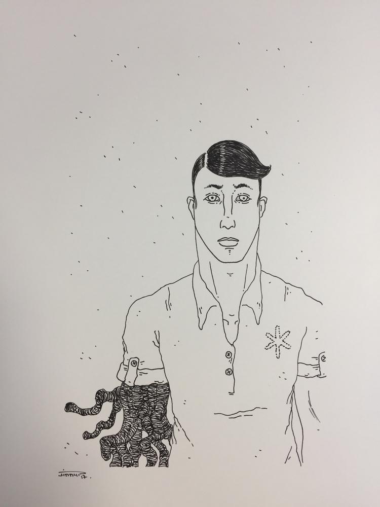 bizarre / weird man - illustration - jimmy-draws | ello