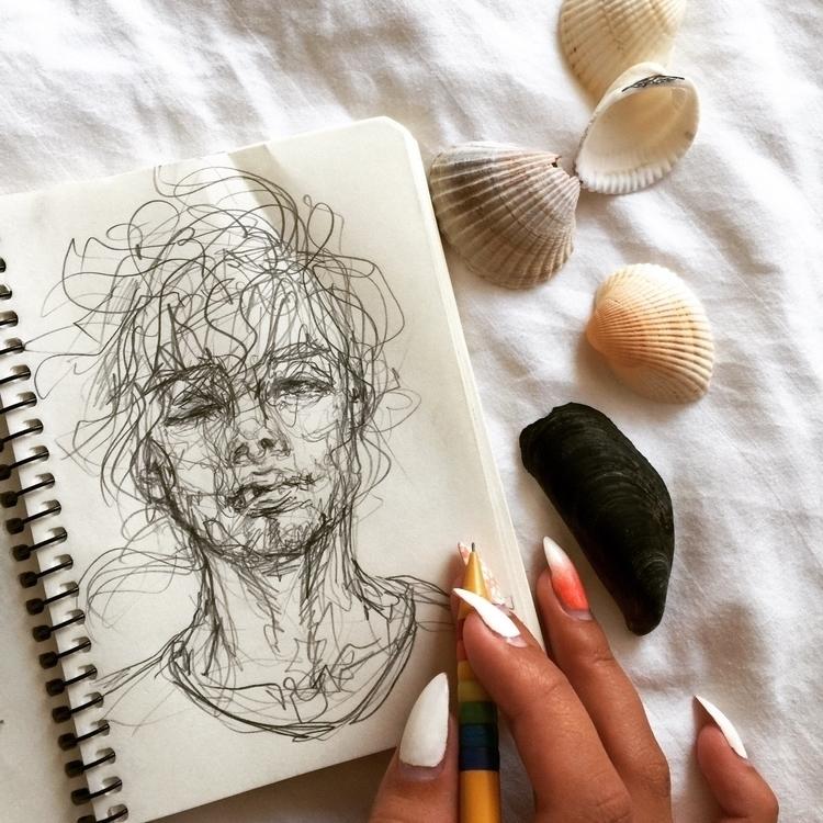 🖤:ocean:#fashionillustration - fashion - ibreathart | ello