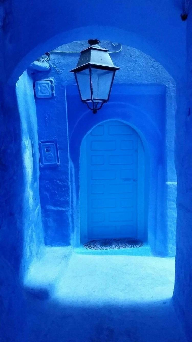 chefchaouen, blue, latern, oldcity - aleksaleksa | ello