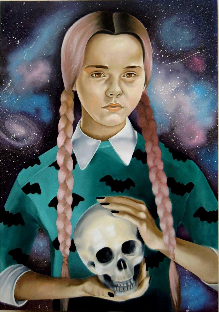 Wednesday Addams painting ^_^ o - emmamount | ello