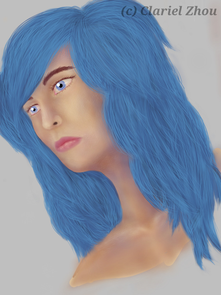Blue Hair Female - clarielzhou | ello
