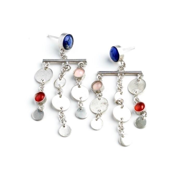 Planetary Drop Earrings. subscr - geoflorajewelry   ello