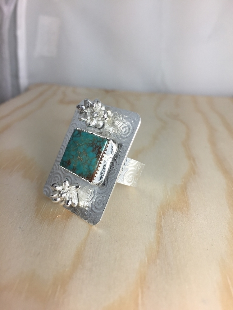 Turquoise sterling silver ring  - carollbrightjewelry | ello