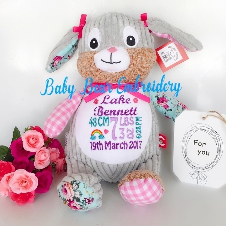 harlequin bunny Lake  - babybearembroidery - babybearembroidery | ello