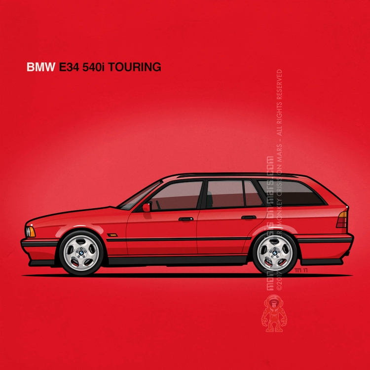 BMW E34 Touring Tom Mayer, Monk - monkeycrisisonmars | ello