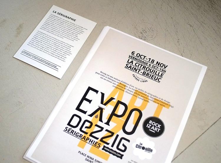 Dezzig screenprint - event, exhibition - dezzig   ello