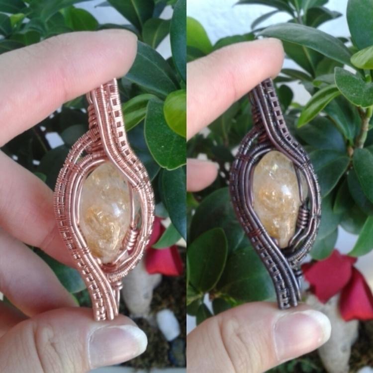 love pendant sell tumbled citri - animamundicrystals   ello