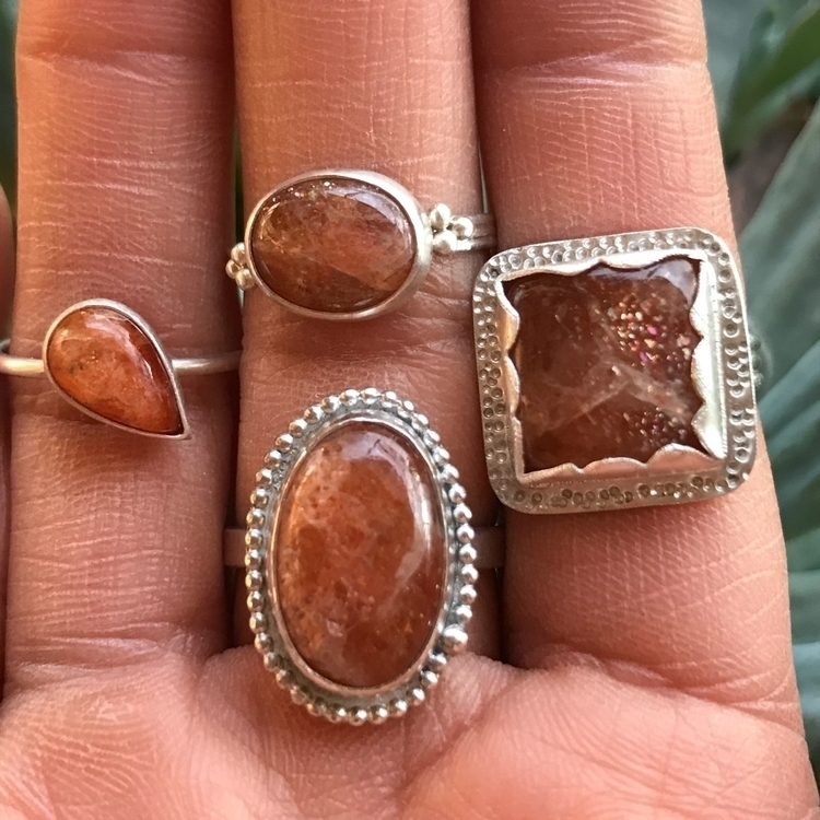 week sunstone rings. lot fun - violetsinjuly - violetsinjuly | ello