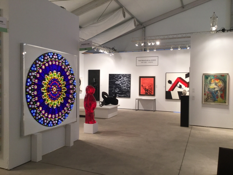 Waterhouse Dodd booth Art Miami - mauroperucchetti | ello