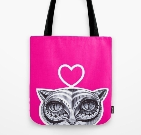 Tote bag - cat, catlovers, pink - trinkl | ello