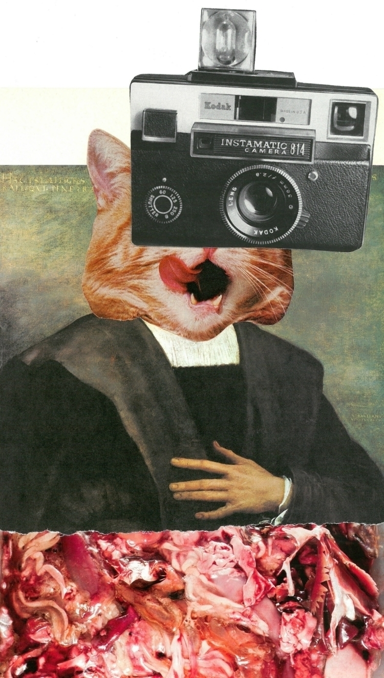 hungry Columbus - collage, papercollage - atwood_benner_cho | ello