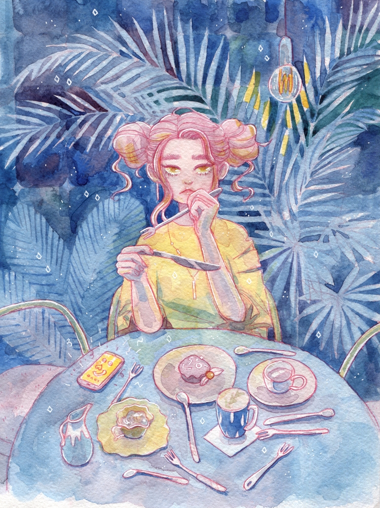 illustration, watercolor - hot_tofu | ello
