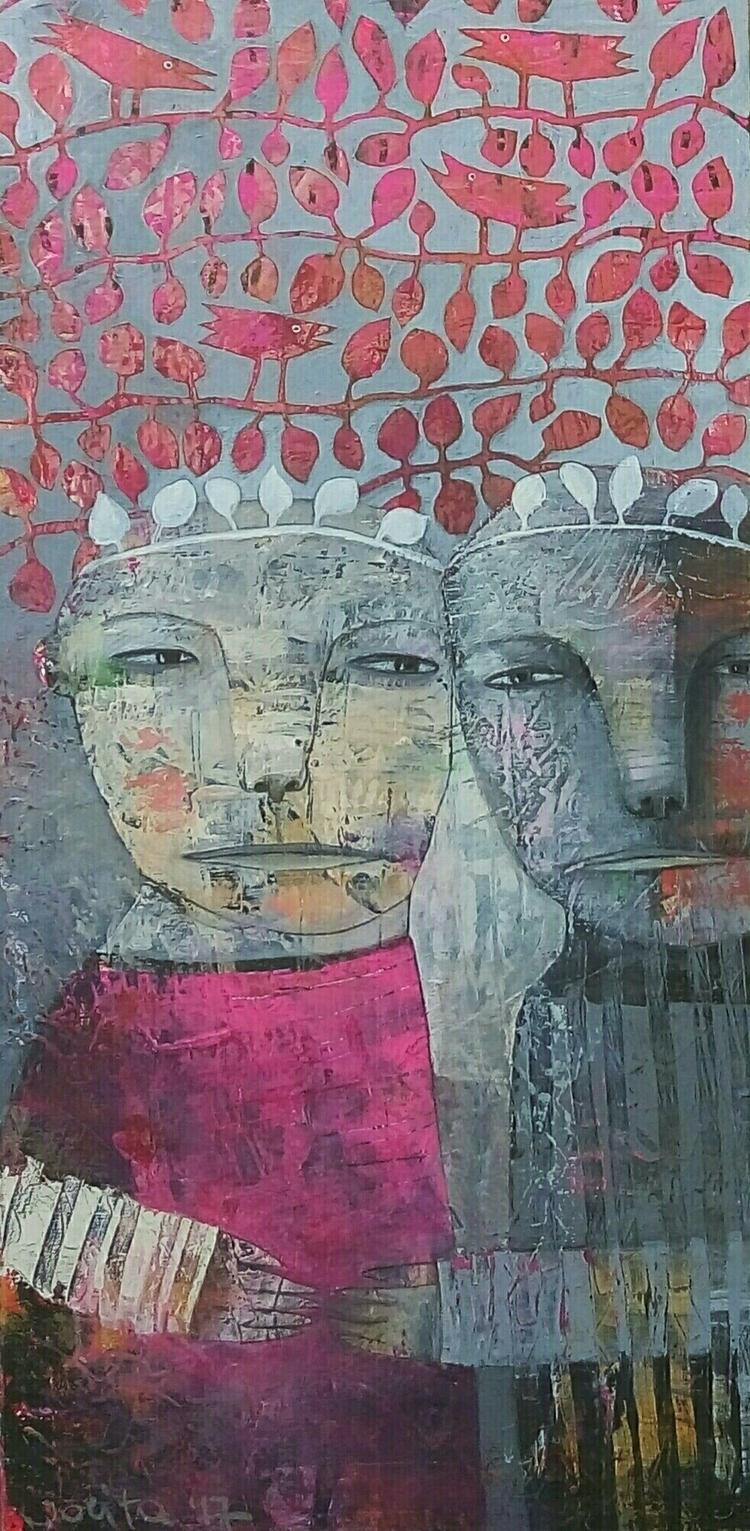 crowned acrylic canvas 60x80 jo - jolitacc | ello