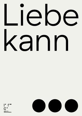 Poster Institut societylove Est - ifgesellschaftsliebe | ello