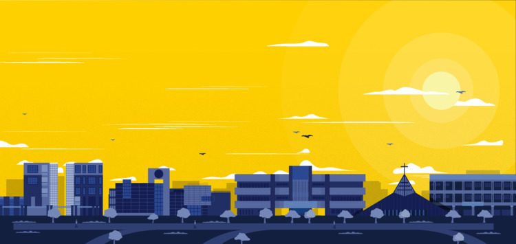 Ateneo De Manila Campus Illustr - designmnl | ello