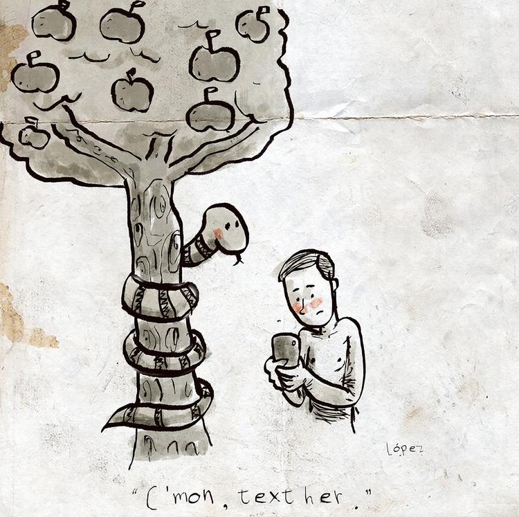 Génesis - ilustracion, illustration - lopezgrafico | ello