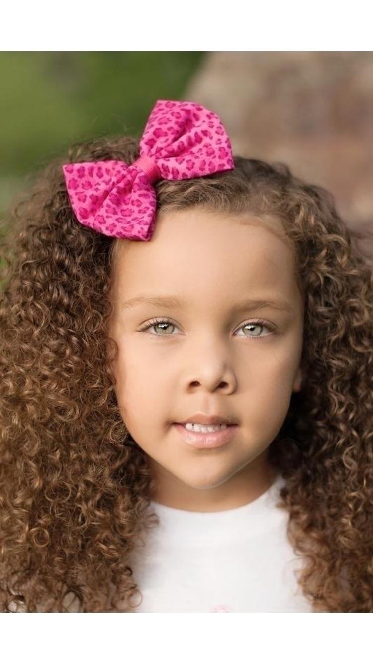 Pink cheetah print hair bow per - sweetbutterflybtq | ello