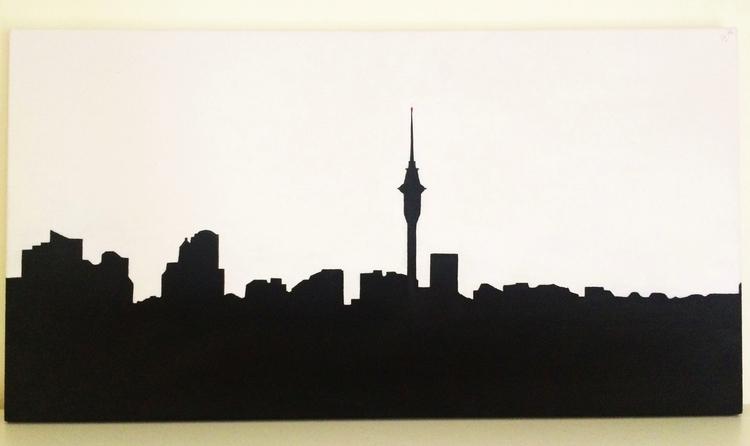 painting Auckland skyline 2002 - lilibethsings | ello