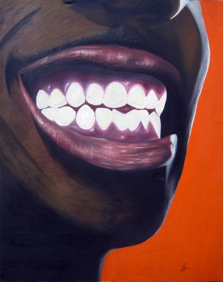 Title: Smiling Medium: Oil canv - damionismyname | ello