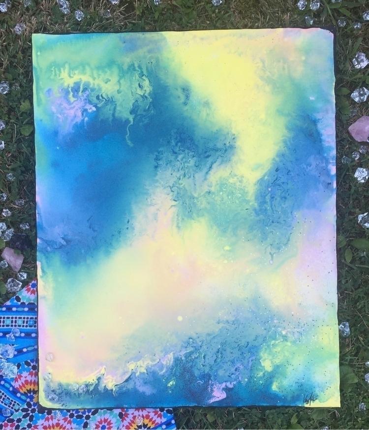 • Galaxy Love 16x20 acrylic + g - artbykaylabraden | ello
