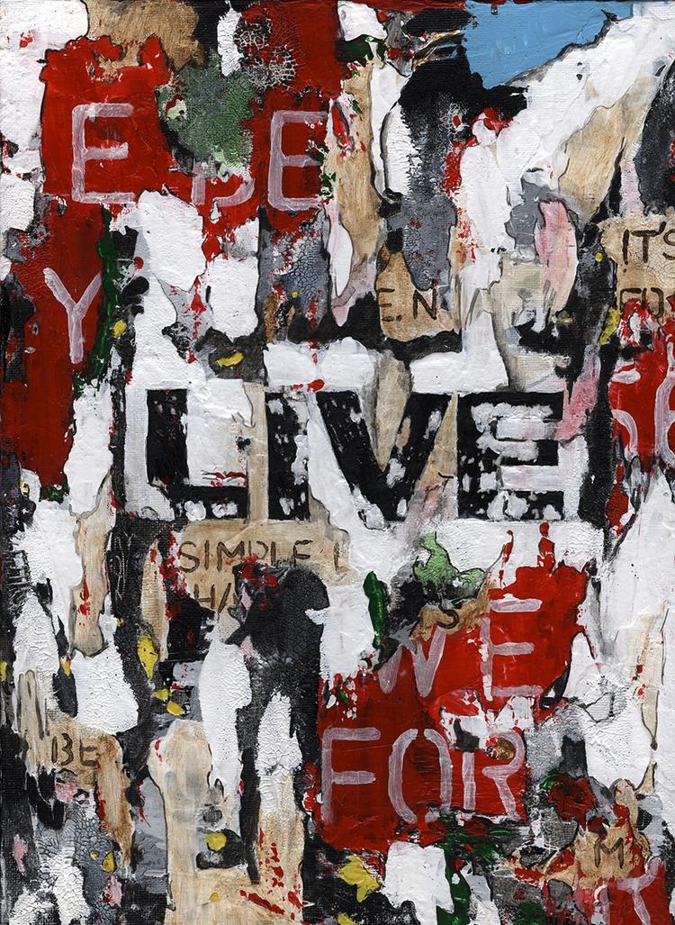 Title: Live Size: 9″X12″ Medium - damionismyname | ello