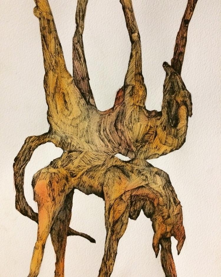 Title: ink - watercolor, pen, fineliner - jacobbayneartist | ello