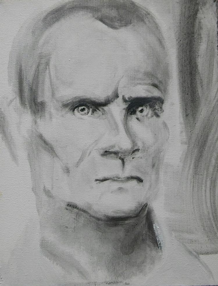 sale - man, portrait, oil, canvas - judytakrawczyk | ello
