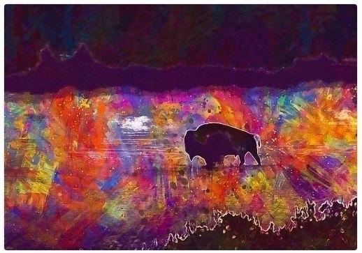 artwork sale! - American Bison - pixbreak | ello