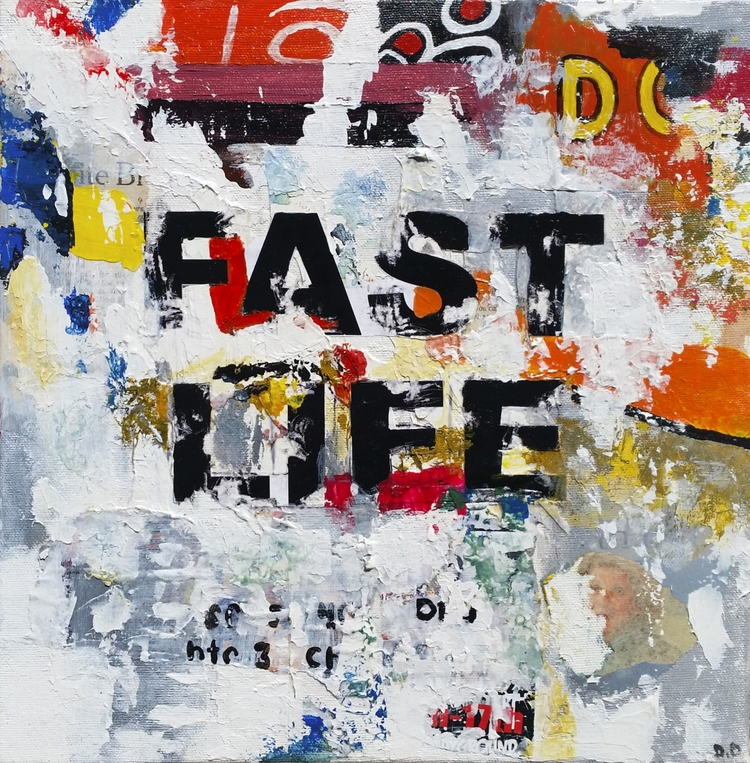 Title: Fast Life Size: 12″X12″  - damionismyname | ello