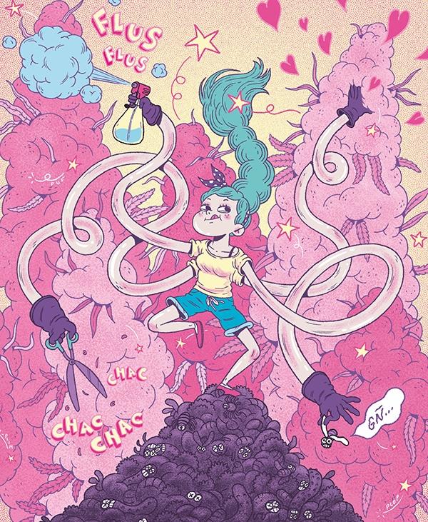 illustration Revista Cañamo, ma - alex_red | ello