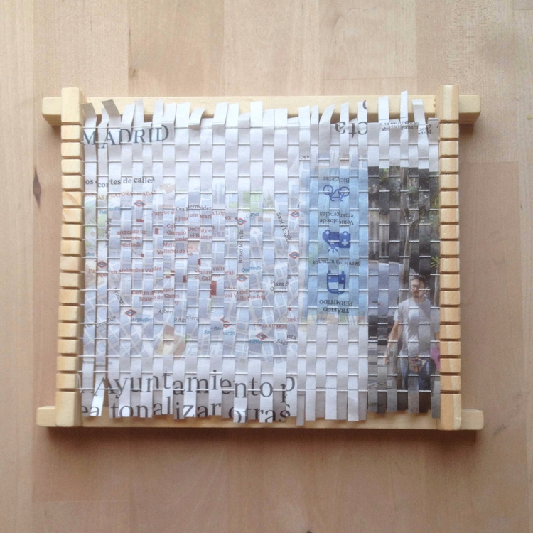 Otra prueba de papel tejido - paper - hauering | ello