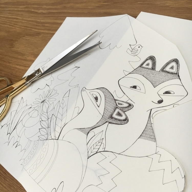 foxes ready - illustration, sketch - eferboel | ello