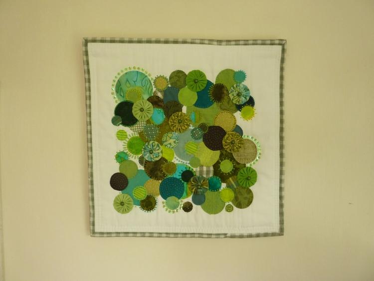 Green Profusion - small wall ha - firehorsetextiles | ello