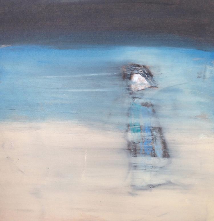 Woman Blue, 2015 sq | acrylic,  - jkalamarz | ello