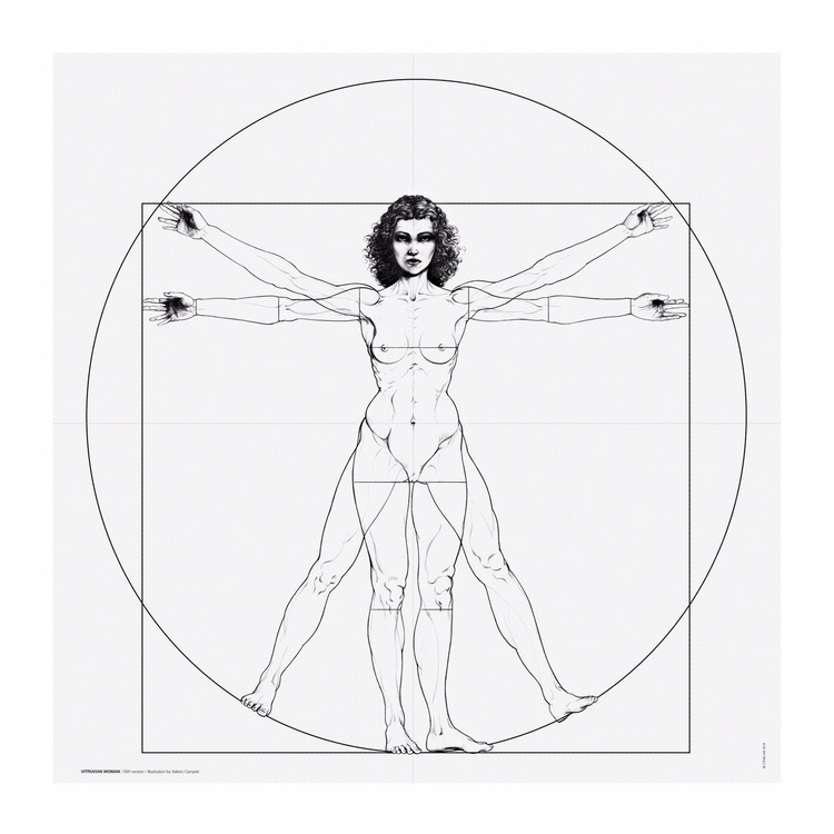 Vitruvian Woman / BW version Il - itemlab_designstudio | ello