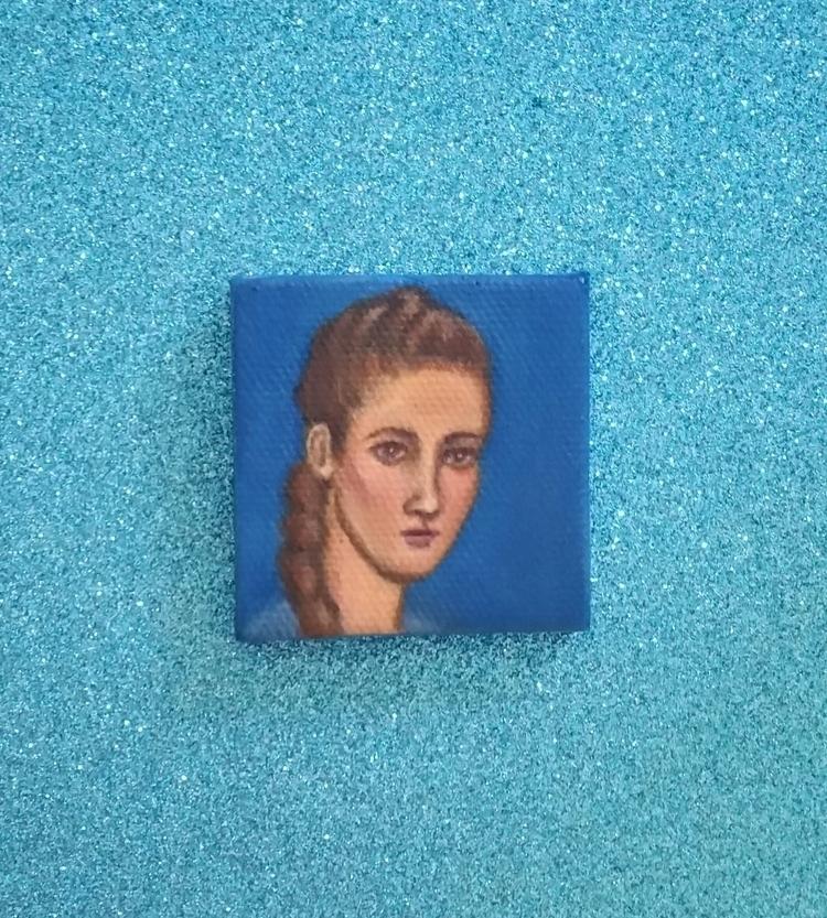 Mini oil painting portrait Aly  - nora_ | ello
