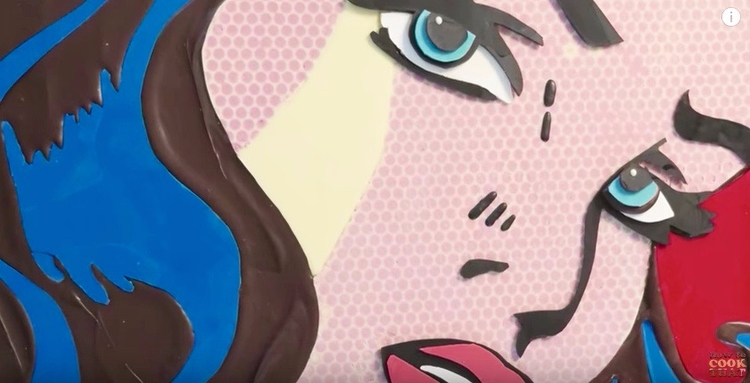 Woman pop art recreated chocola - bonniegrrl | ello