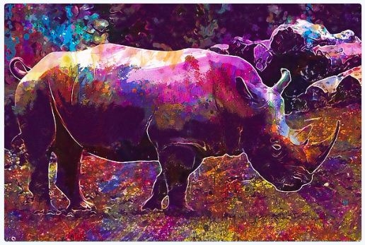 - Black - artwork, sale!, Rhino - pixbreak | ello