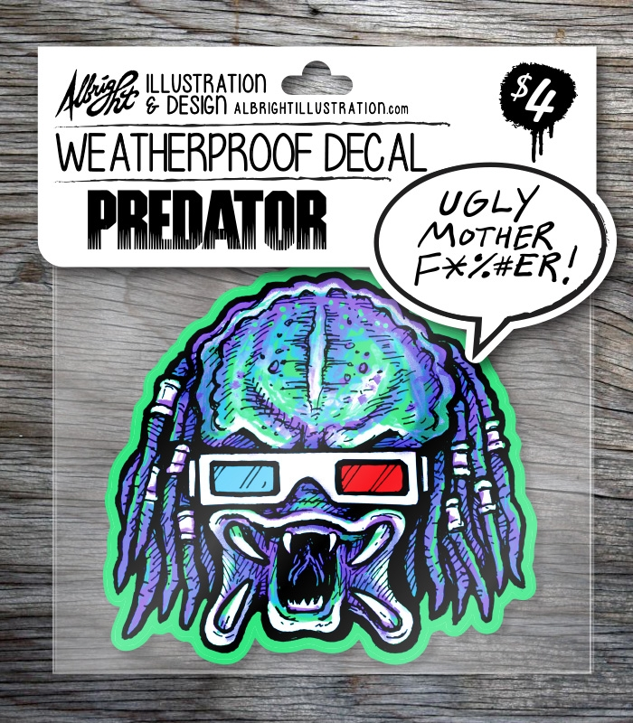 Predator de-cut sticker hang ca - bradalbright | ello