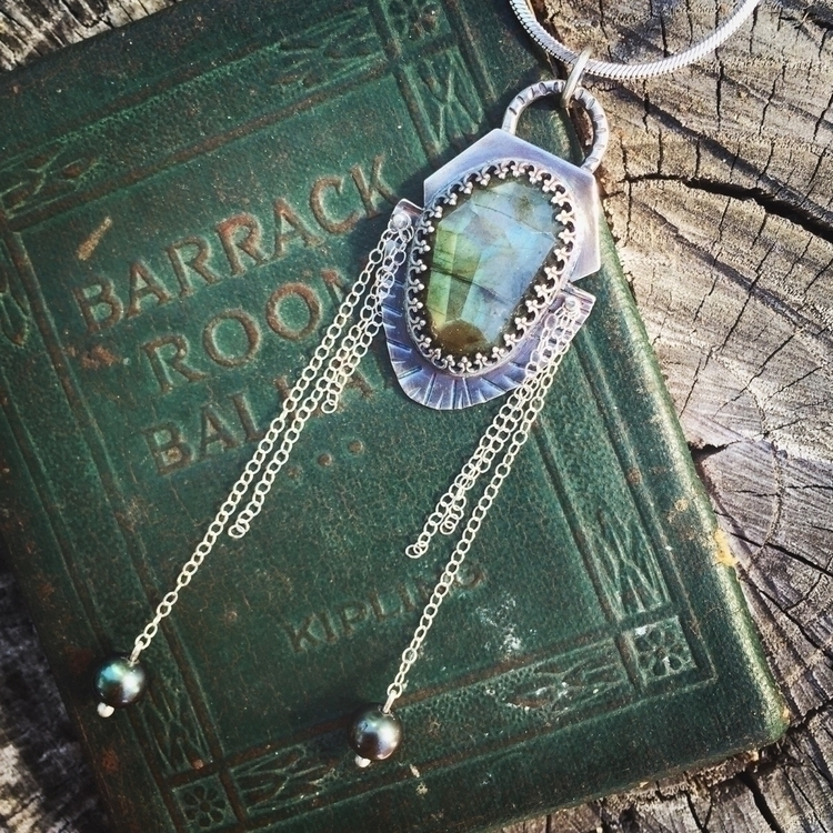 .935 Silver Labradorite shield  - sphinx_silver | ello