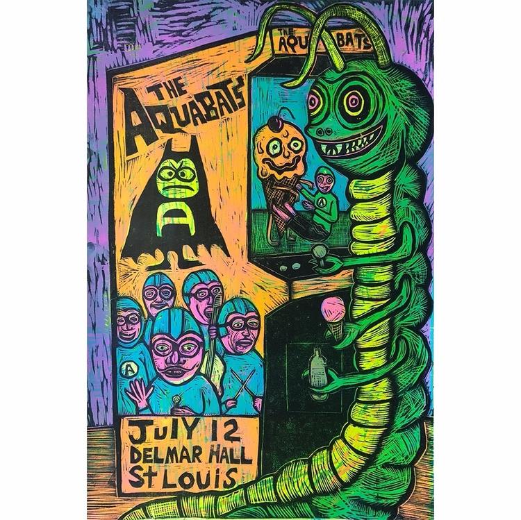 Gig Poster Aquabats show St Lou - seanstarwars | ello