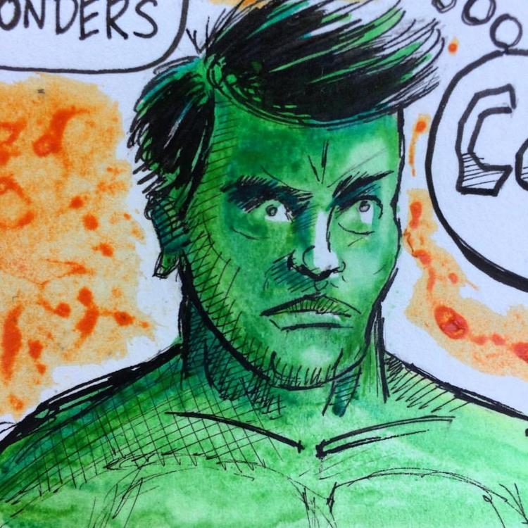 Hulk water color ink - marksolario | ello