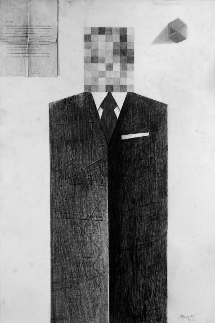 Delta, graphite pen, 35 50 cm.  - milosdjordjevic | ello