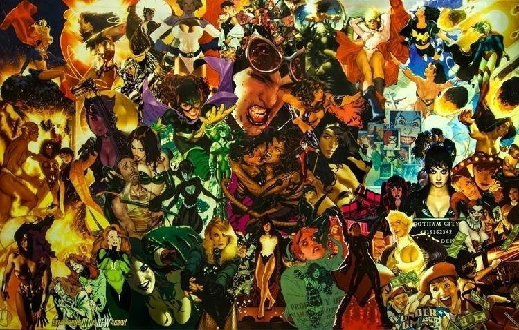 DC heroines collage - catwoman, poisonivy - fredzy | ello