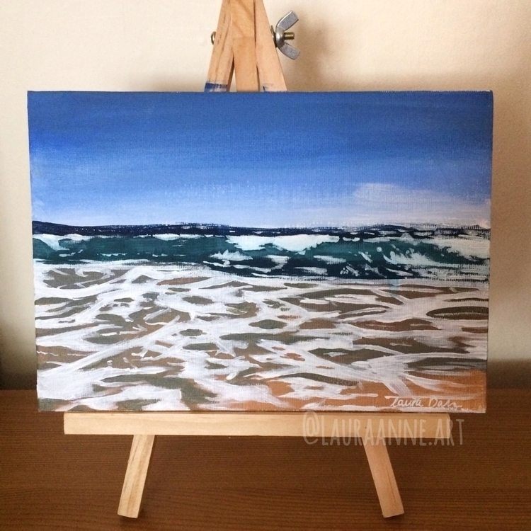 wave tame... painting finished  - lauraanneart | ello