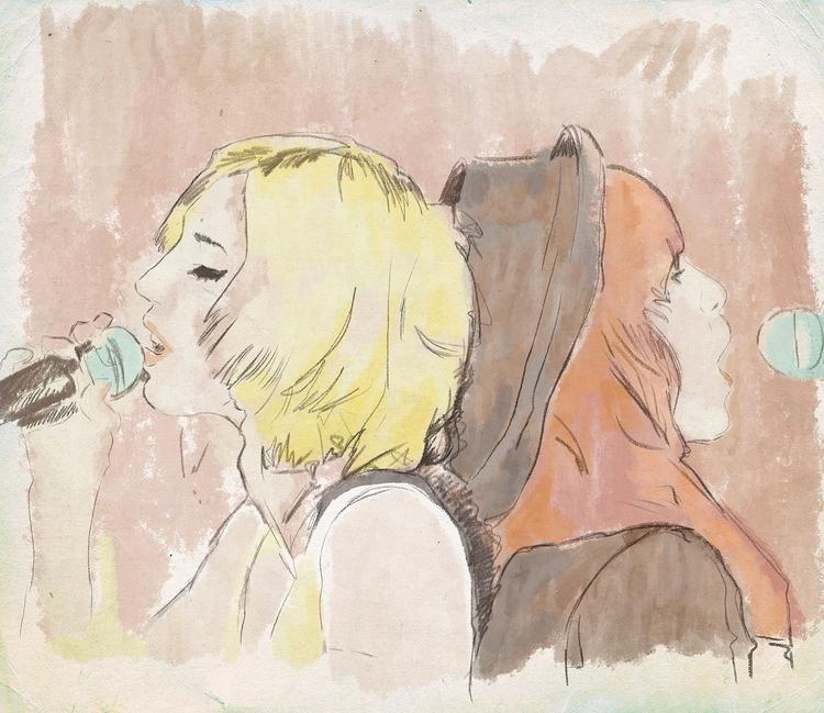 Singing - illustration, artwork - zoe_vadim | ello