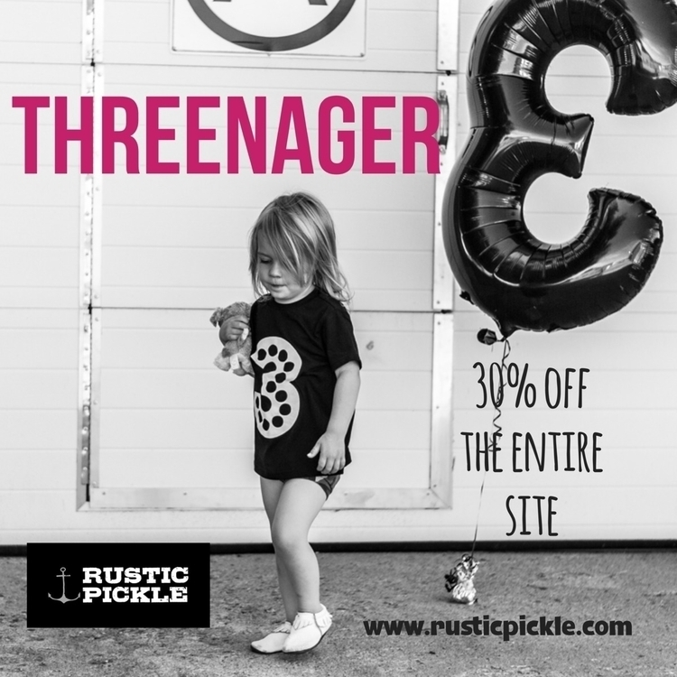 3 code THREENAGER 30% site wide - rusticpickle_ | ello