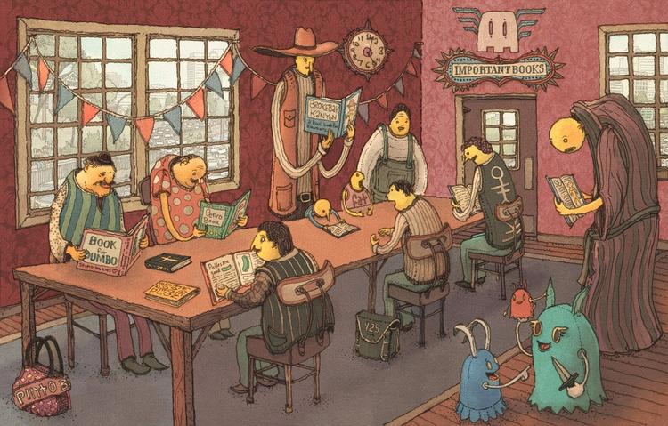 Important People Reading Books  - junkyardsam   ello
