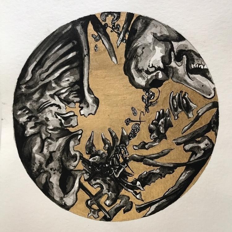 small (10cm) paintings - Gouach - michaelhenleyart | ello
