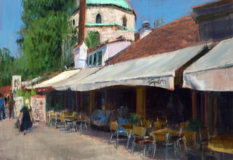 Sarajevo Sunshine Sketch, study - mujkicharis | ello